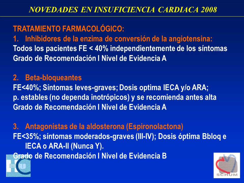 NOVEDADES EN INSUFICIENCIA CARDIACA 2008