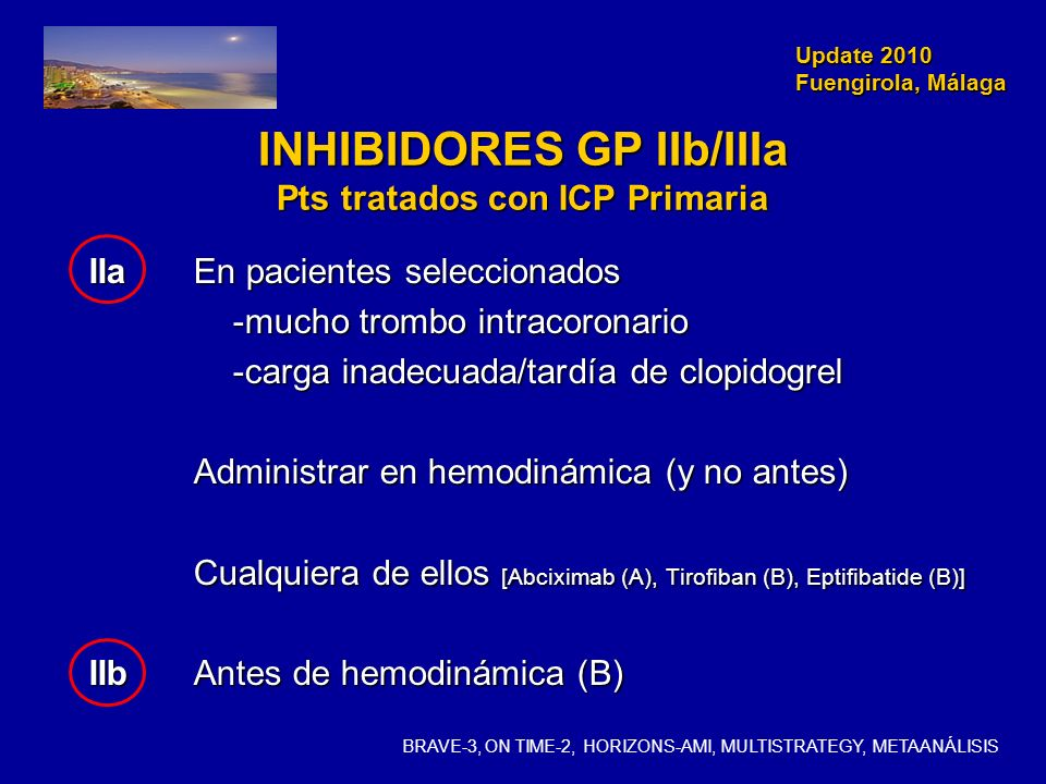 INHIBIDORES GP IIb/IIIa Pts tratados con ICP Primaria