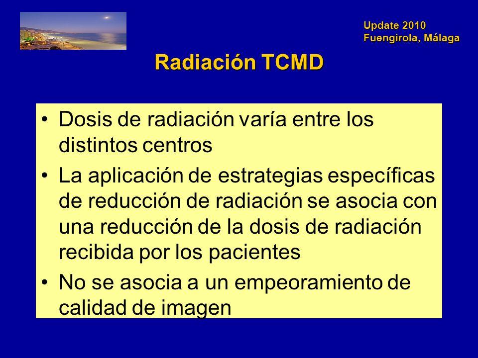 Dosis de radiación varía entre los distintos centros