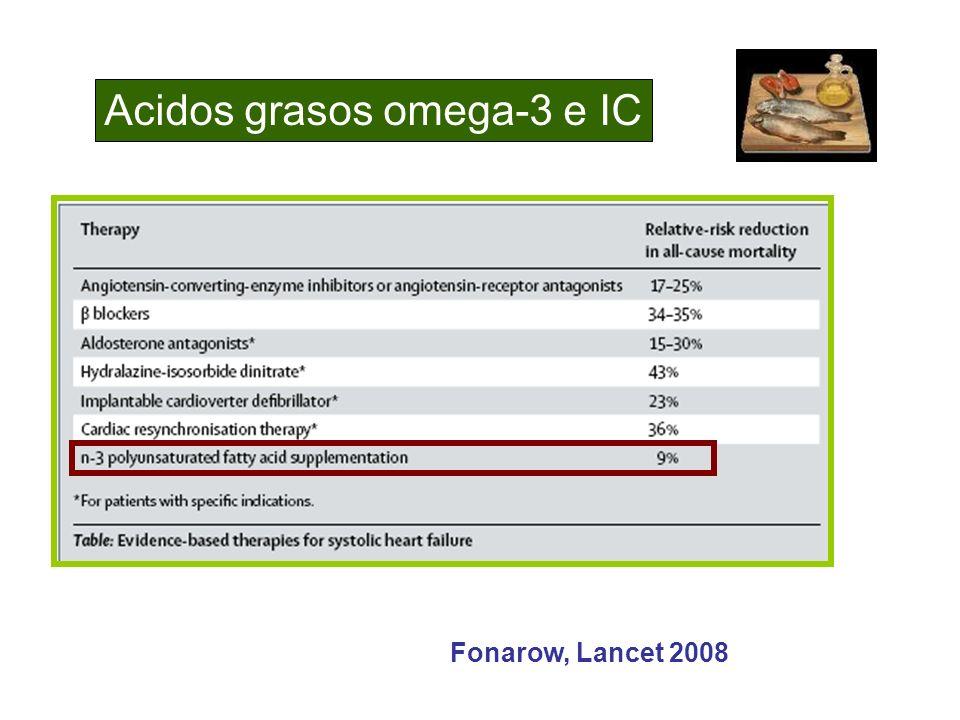 Acidos grasos omega-3 e IC