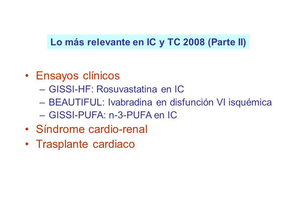 Síndrome cardio-renal Trasplante cardiaco
