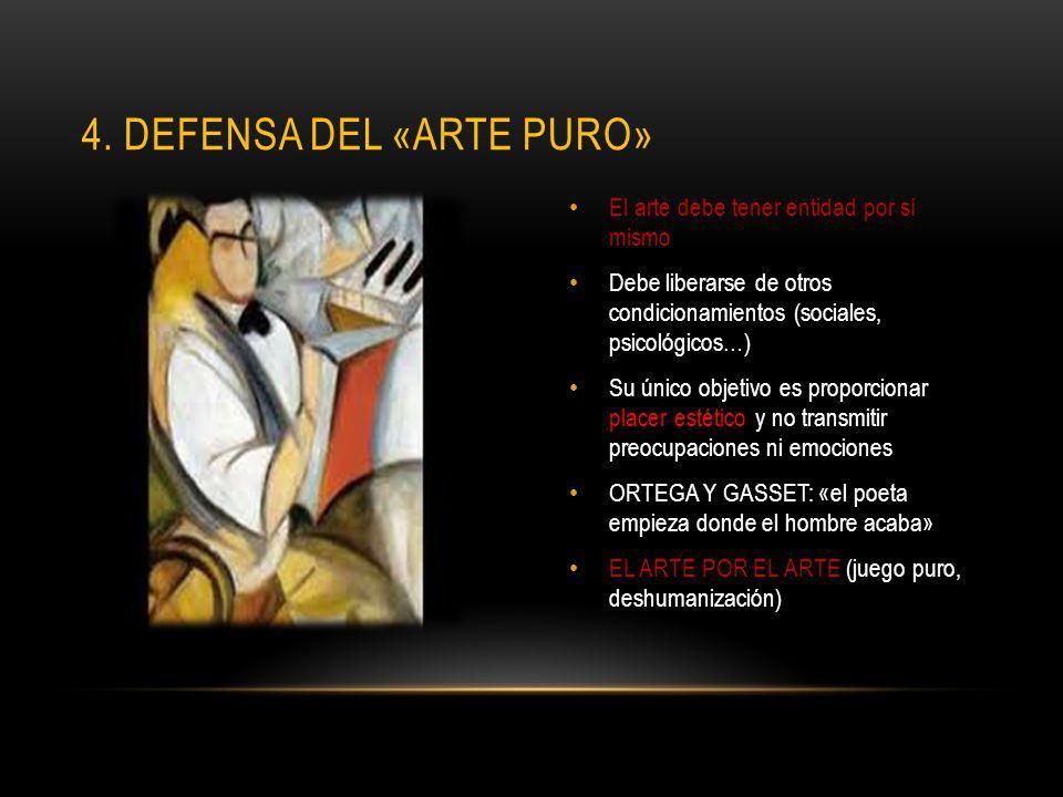 4. Defensa del «arte puro»