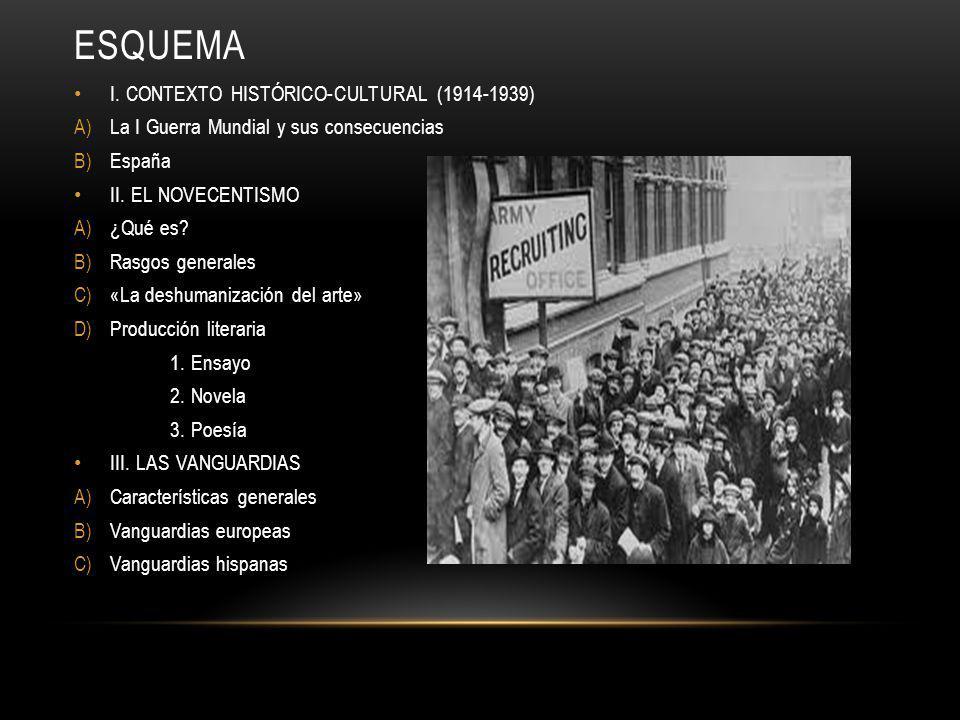 ESQUEMA I. CONTEXTO HISTÓRICO-CULTURAL (1914-1939)
