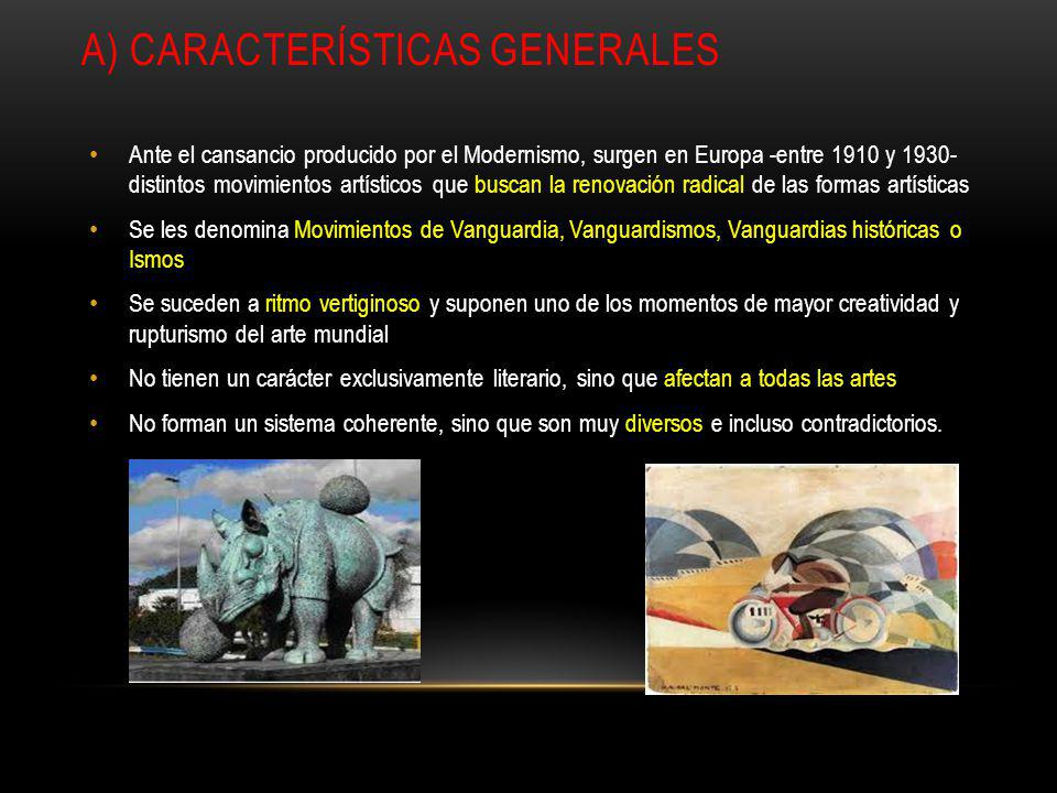A) Características generales
