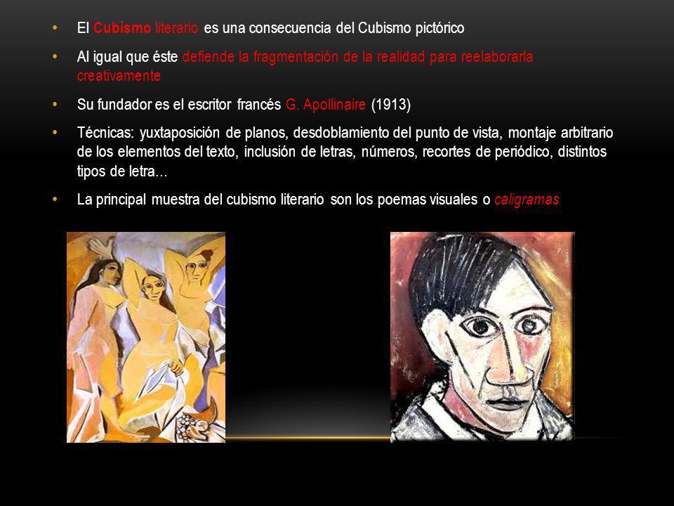 El Cubismo literario es una consecuencia del Cubismo pictórico