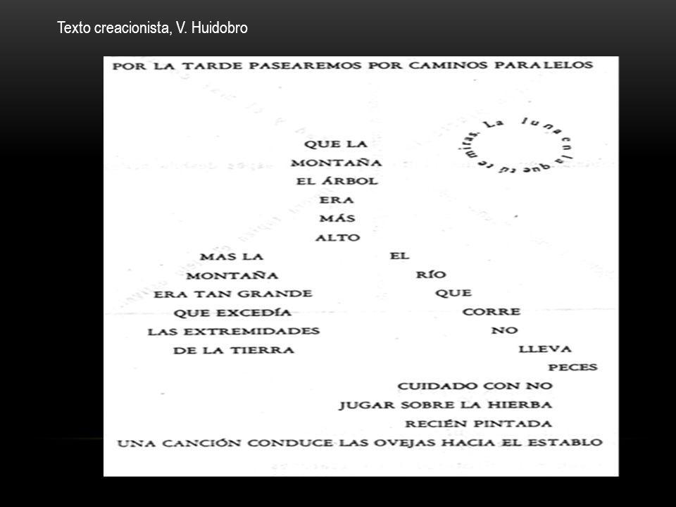 Texto creacionista, V. Huidobro