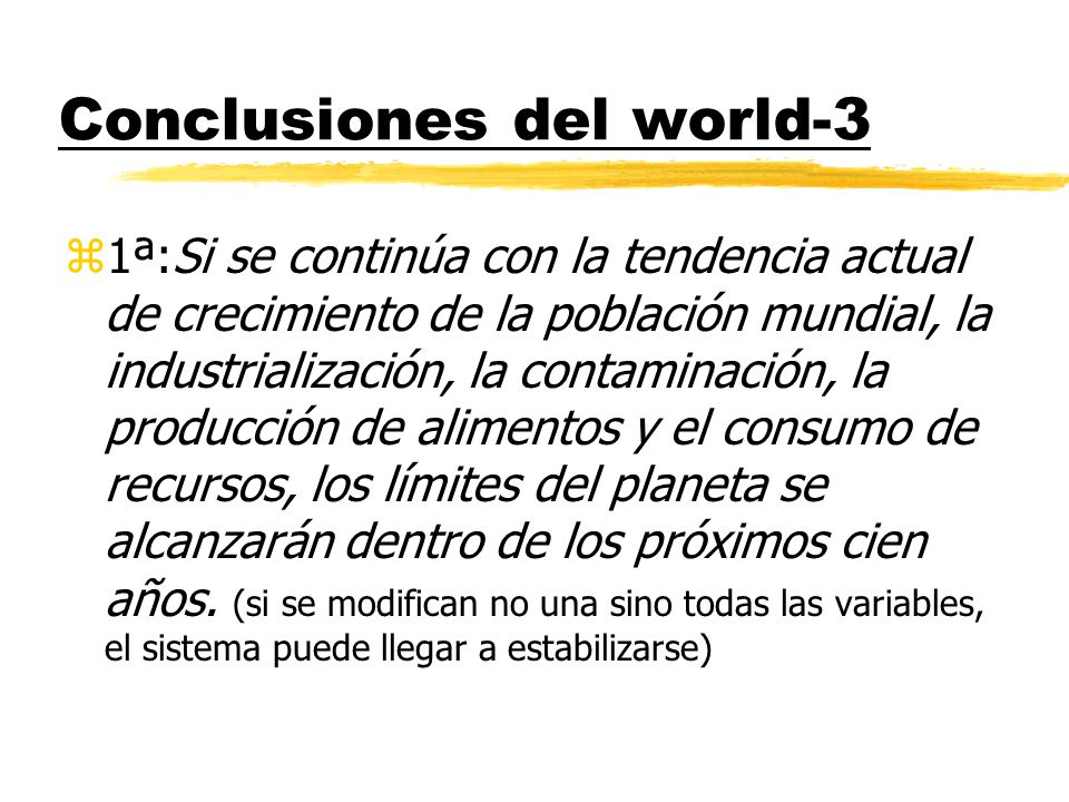 Conclusiones del world-3