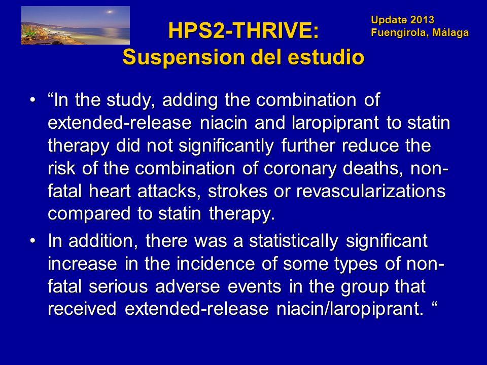 HPS2-THRIVE: Suspension del estudio
