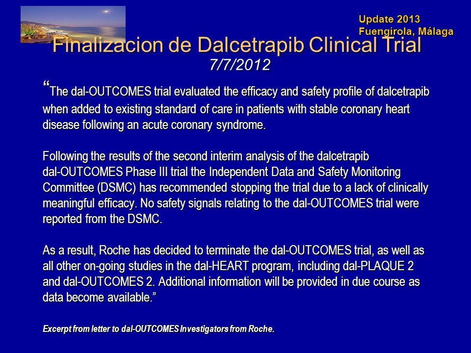 Finalizacion de Dalcetrapib Clinical Trial 7/7/2012