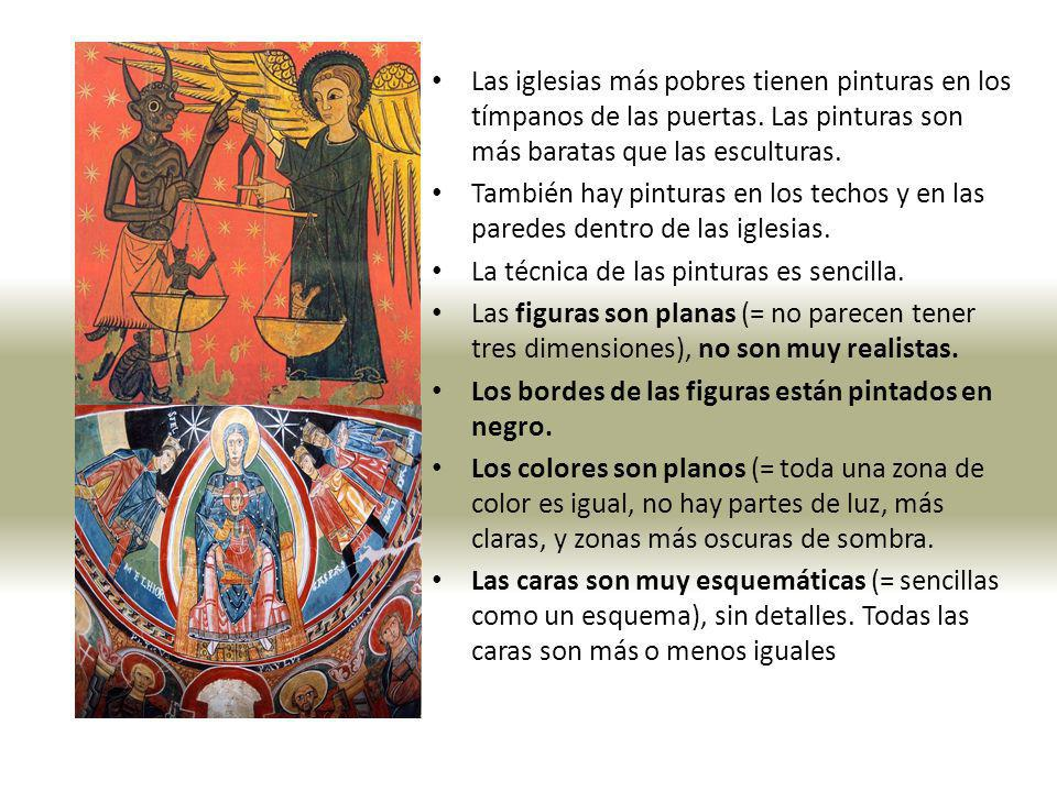 Las iglesias más pobres tienen pinturas en los tímpanos de las puertas