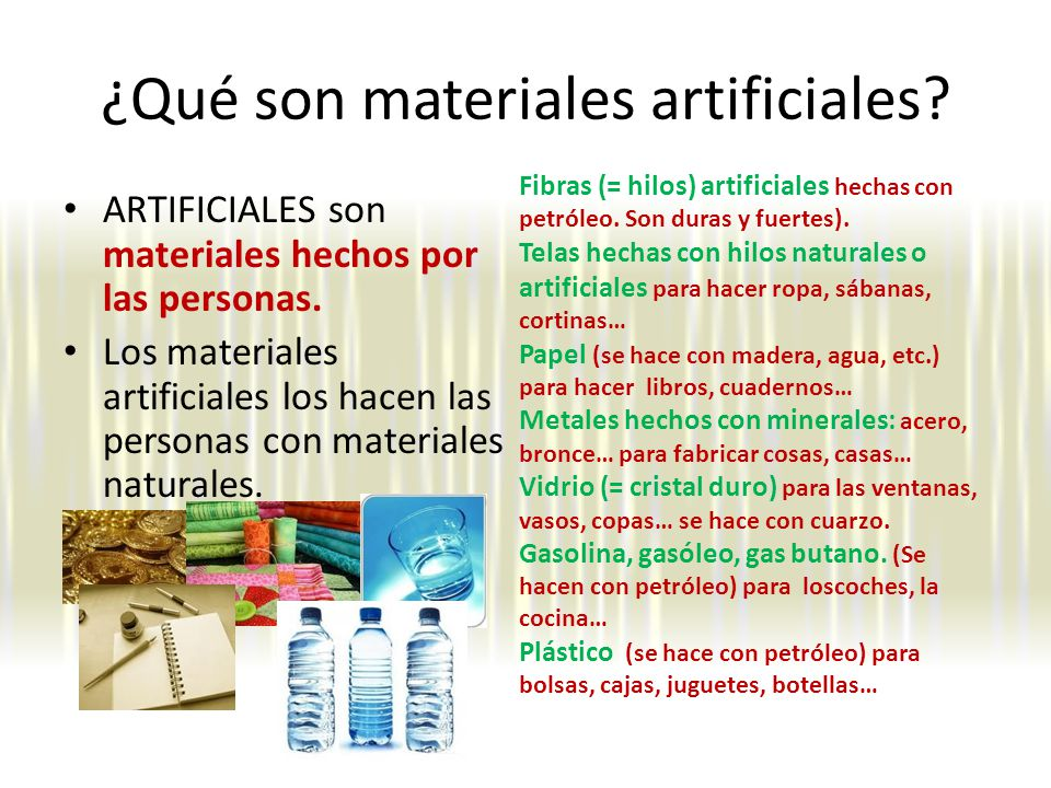 ¿Qué son materiales artificiales