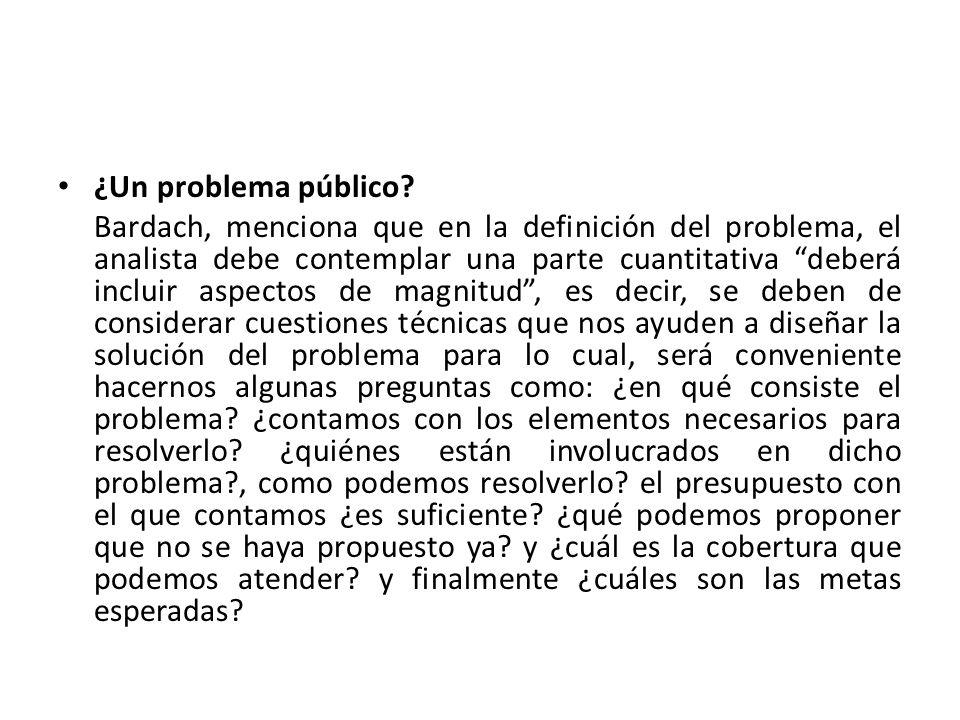 ¿Un problema público