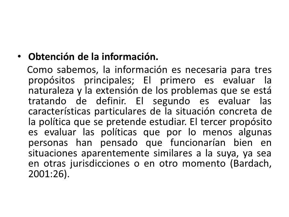 Obtención de la información.