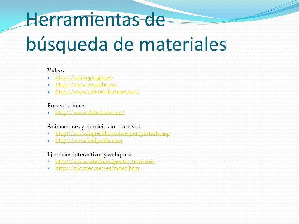 Herramientas de búsqueda de materiales