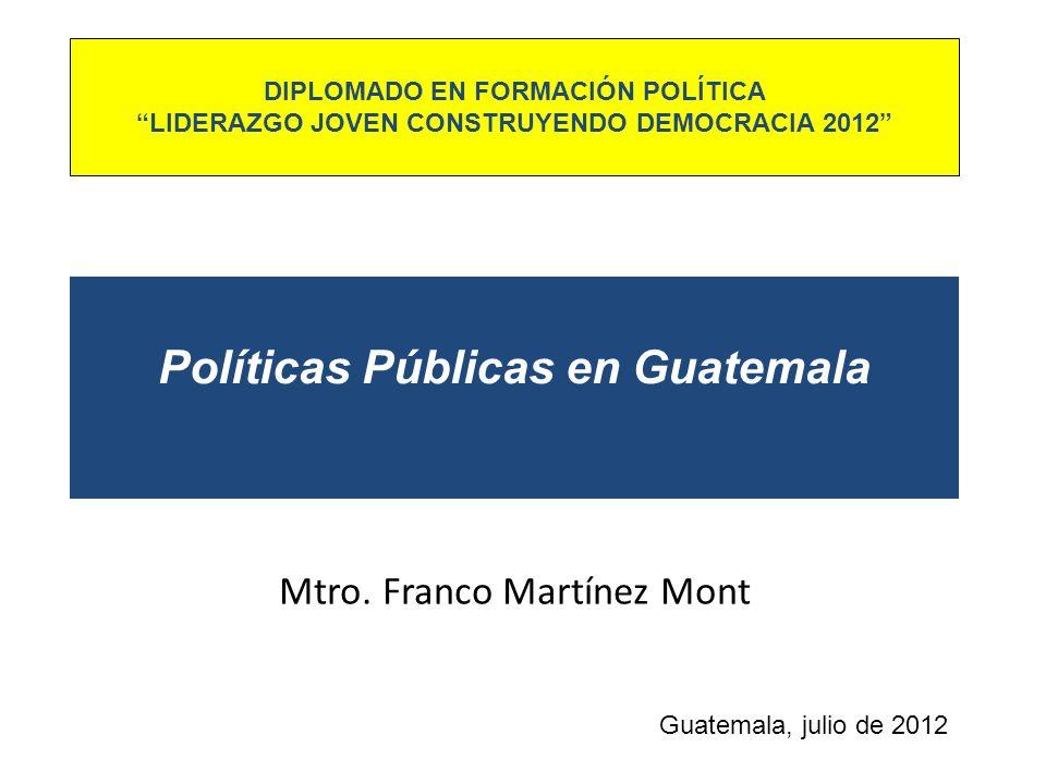 Políticas Públicas en Guatemala