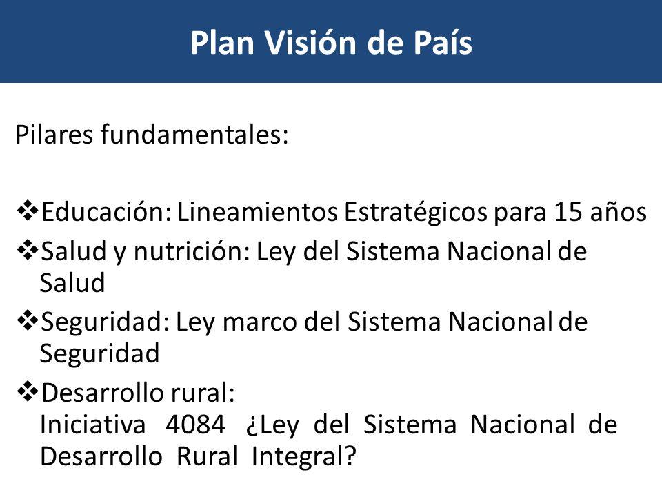 Plan Visión de País Pilares fundamentales: