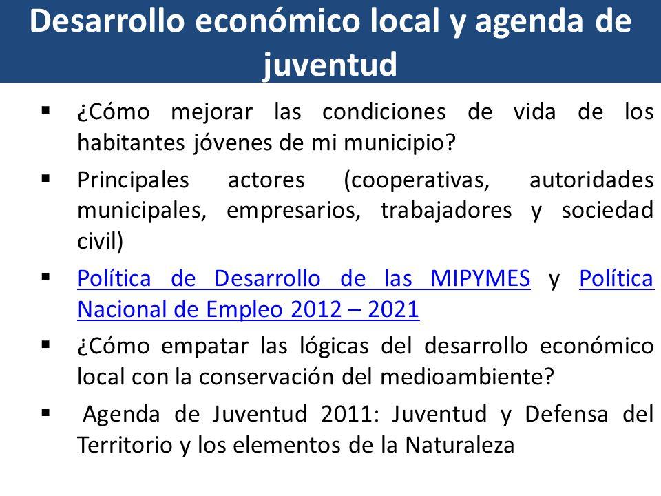 Desarrollo económico local y agenda de juventud