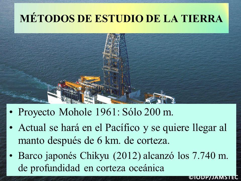 MÉTODOS DE ESTUDIO DE LA TIERRA