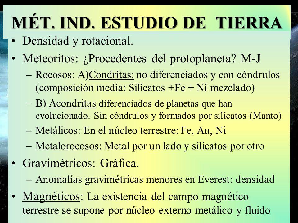 MÉT. IND. ESTUDIO DE TIERRA