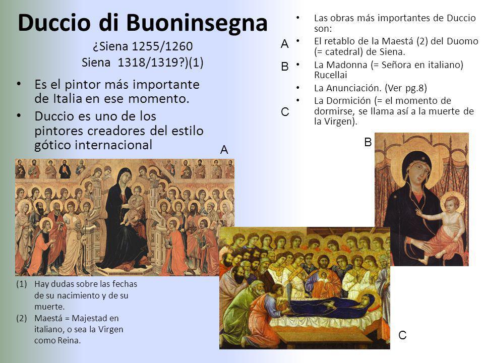 Duccio di Buoninsegna ¿Siena 1255/1260 Siena 1318/1319 )(1)