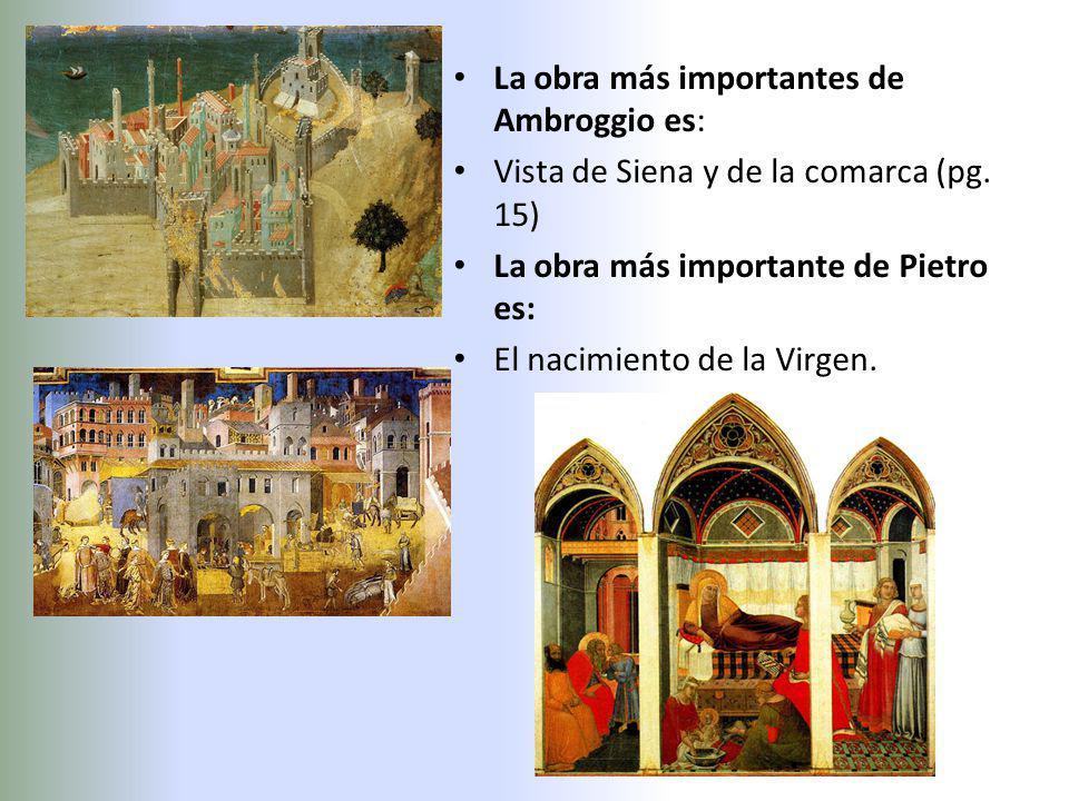 La obra más importantes de Ambroggio es: