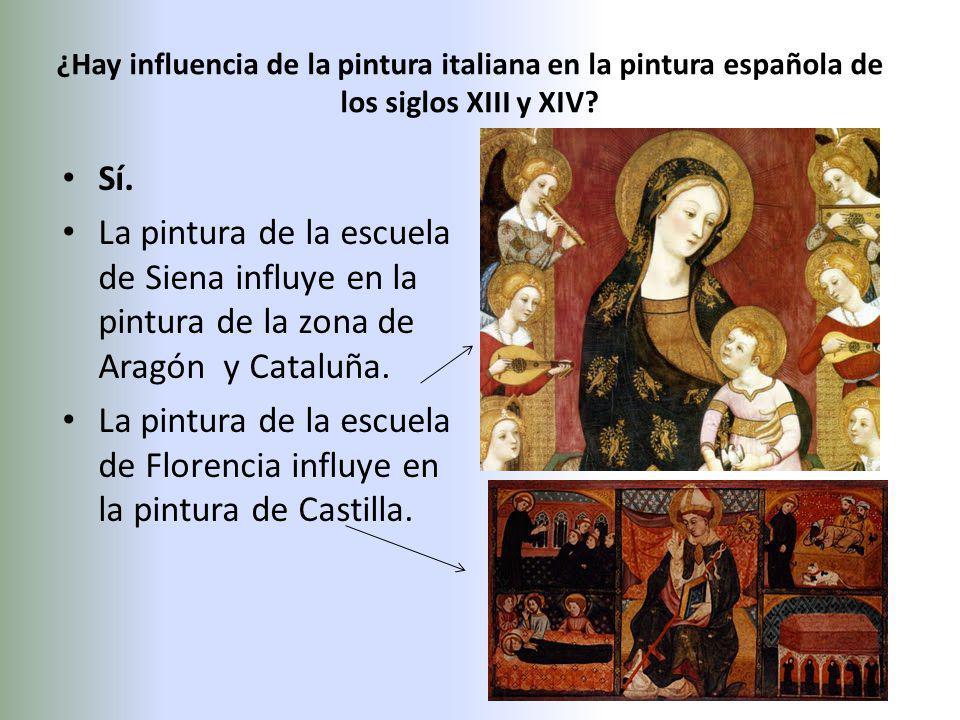 ¿Hay influencia de la pintura italiana en la pintura española de los siglos XIII y XIV