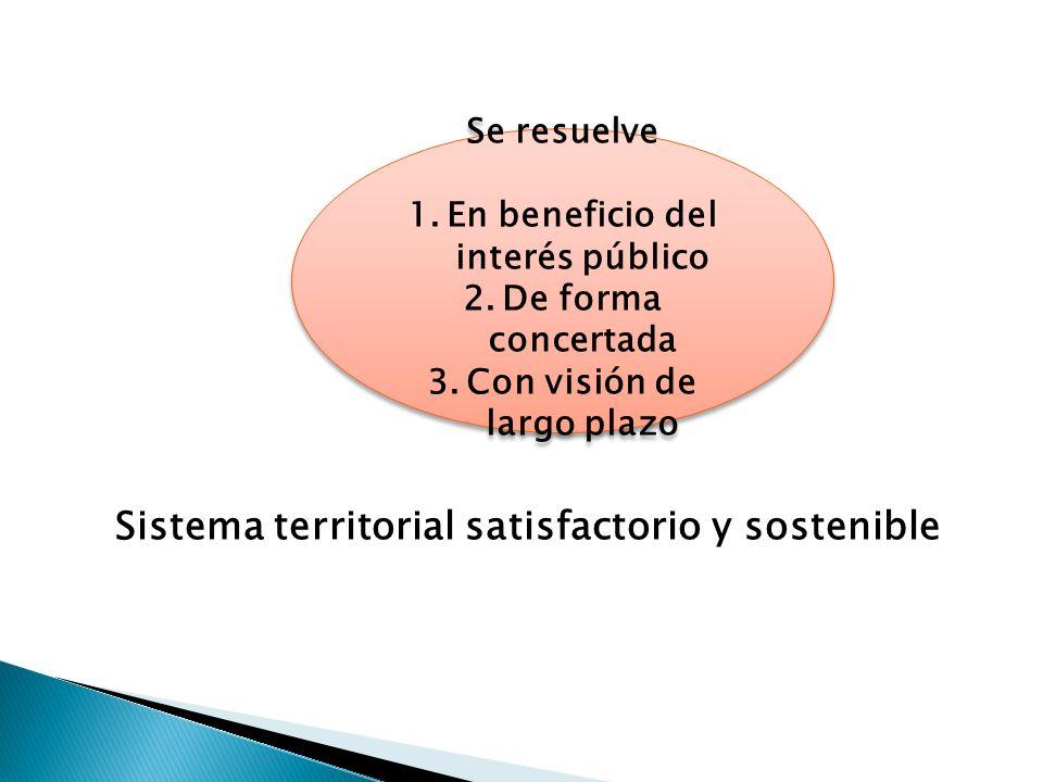 Sistema territorial satisfactorio y sostenible