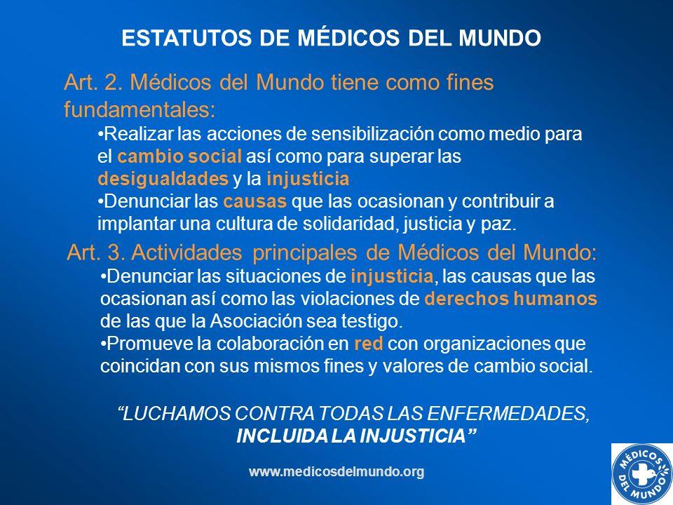 ESTATUTOS DE MÉDICOS DEL MUNDO INCLUIDA LA INJUSTICIA