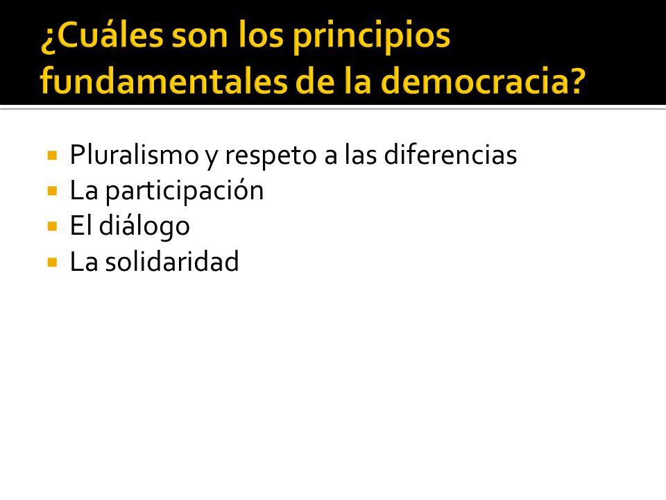 ¿Cuáles son los principios fundamentales de la democracia