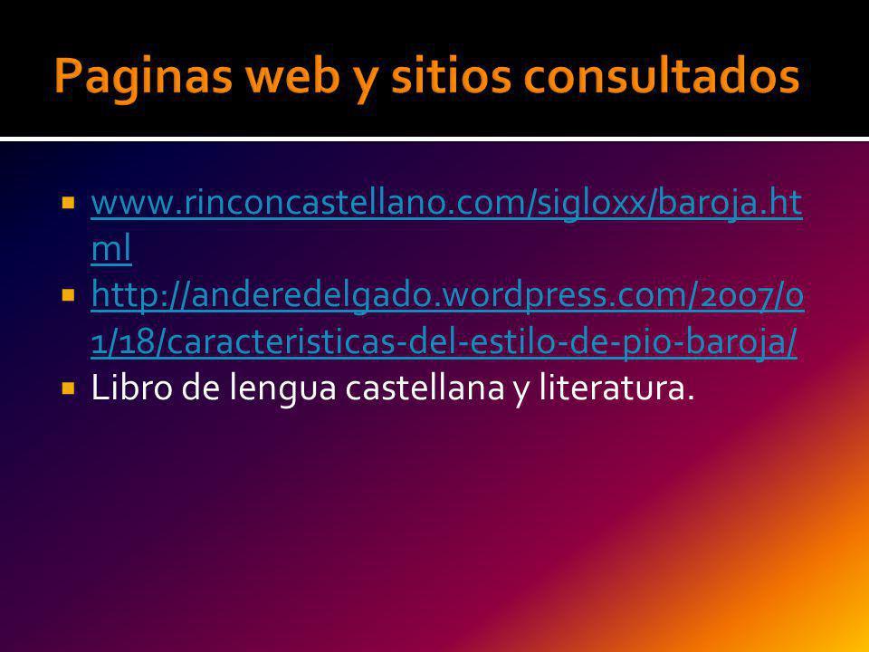 Paginas web y sitios consultados