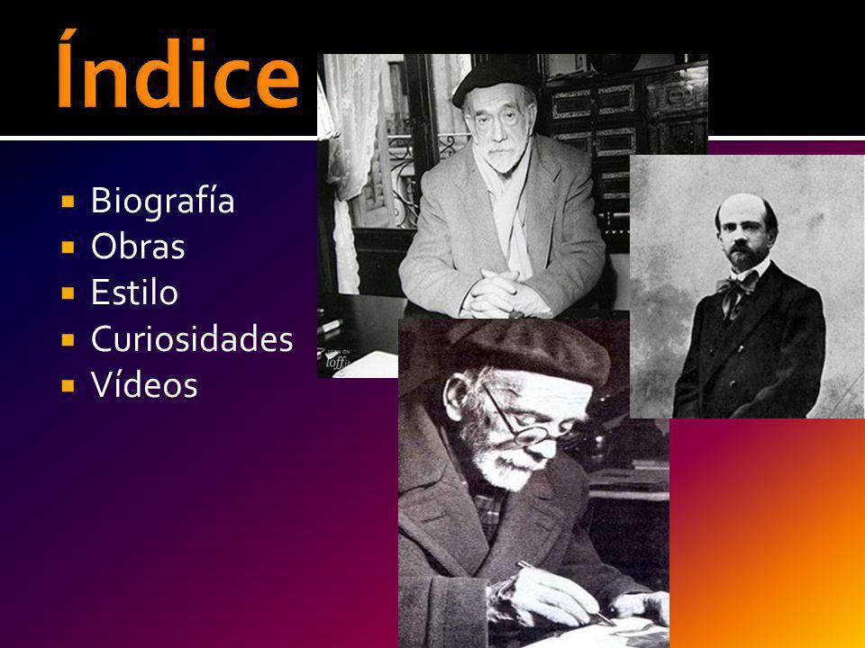 Índice Biografía Obras Estilo Curiosidades Vídeos