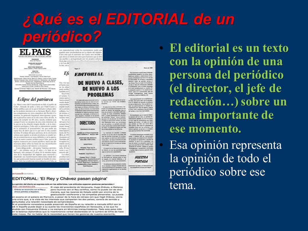 ¿Qué es el EDITORIAL de un periódico