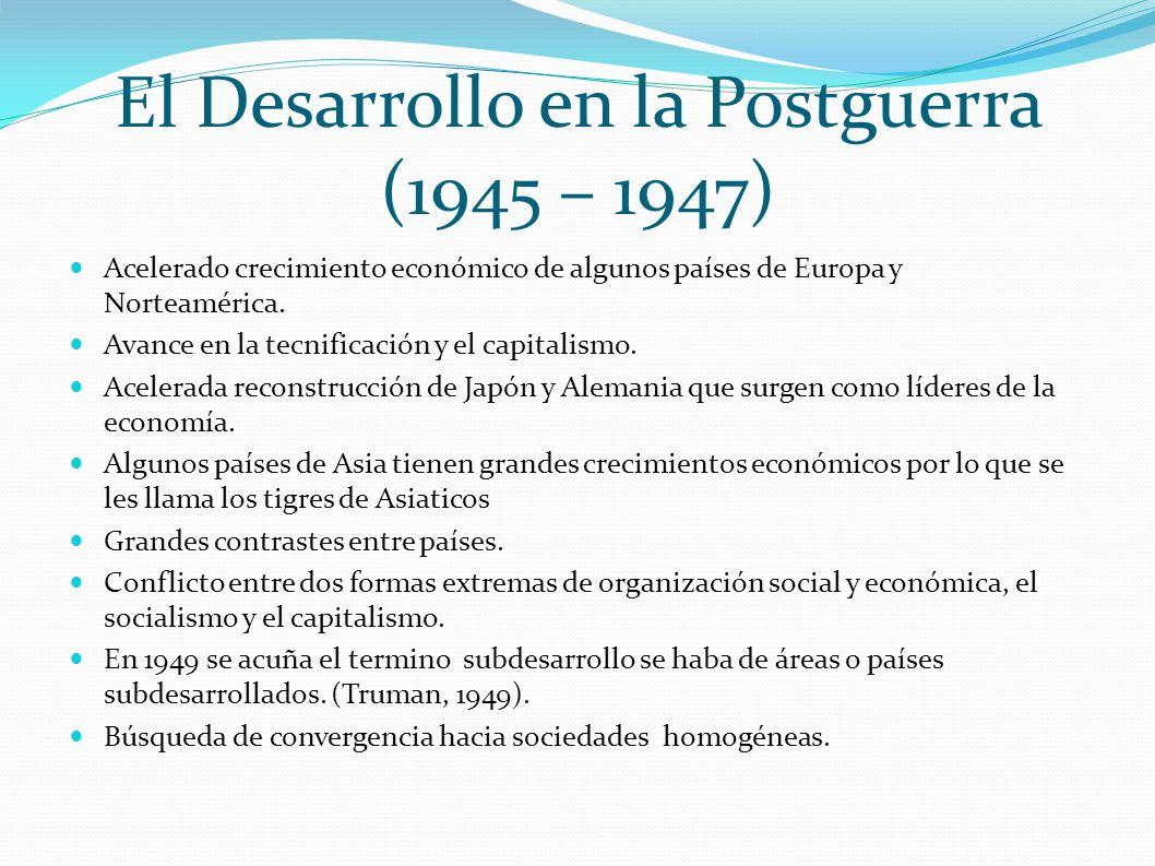 El Desarrollo en la Postguerra (1945 – 1947)
