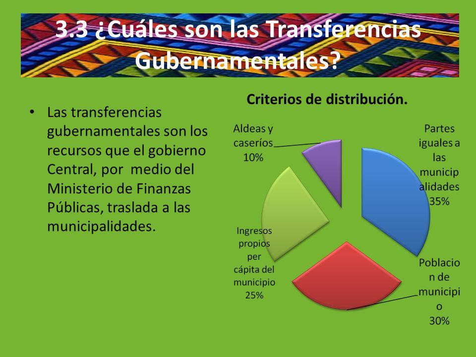 3.3 ¿Cuáles son las Transferencias Gubernamentales