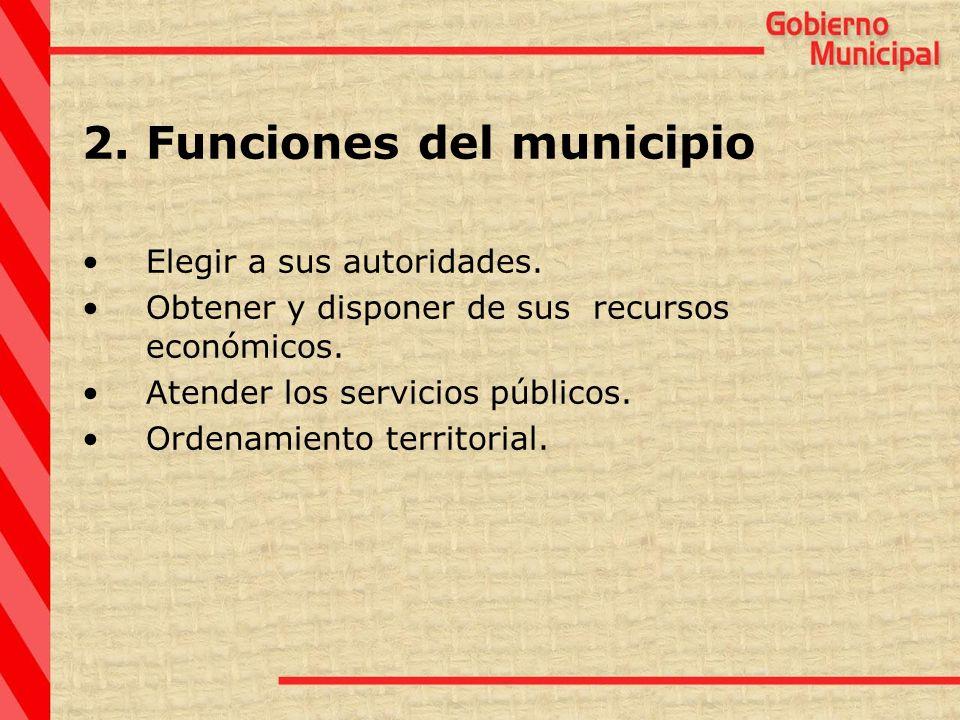 Funciones del municipio