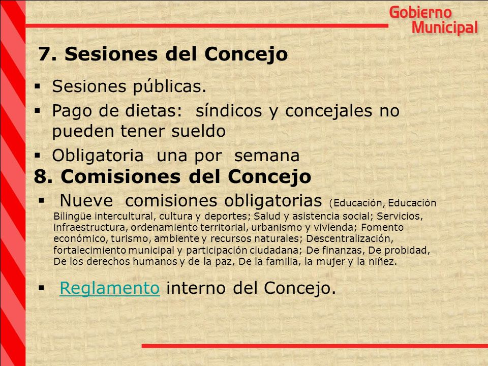 8. Comisiones del Concejo