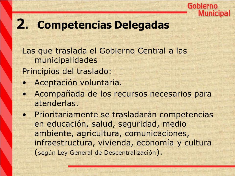 2. Competencias Delegadas
