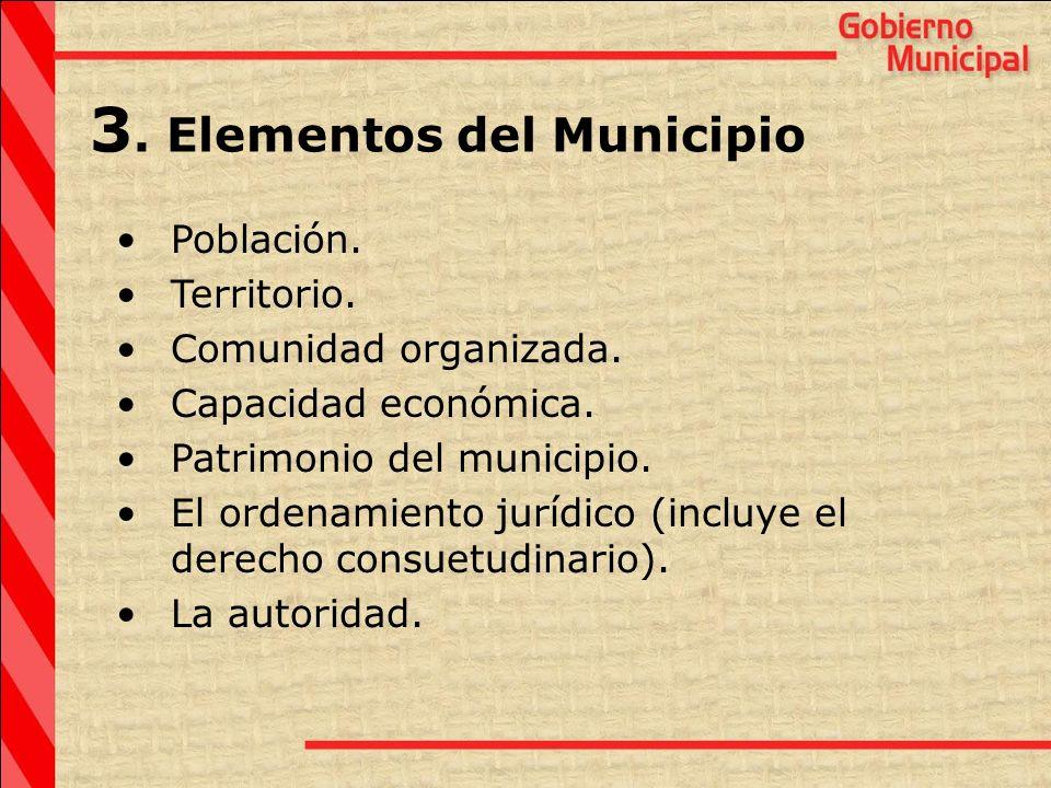 3. Elementos del Municipio