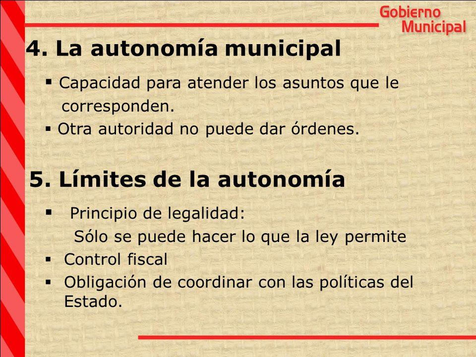 4. La autonomía municipal