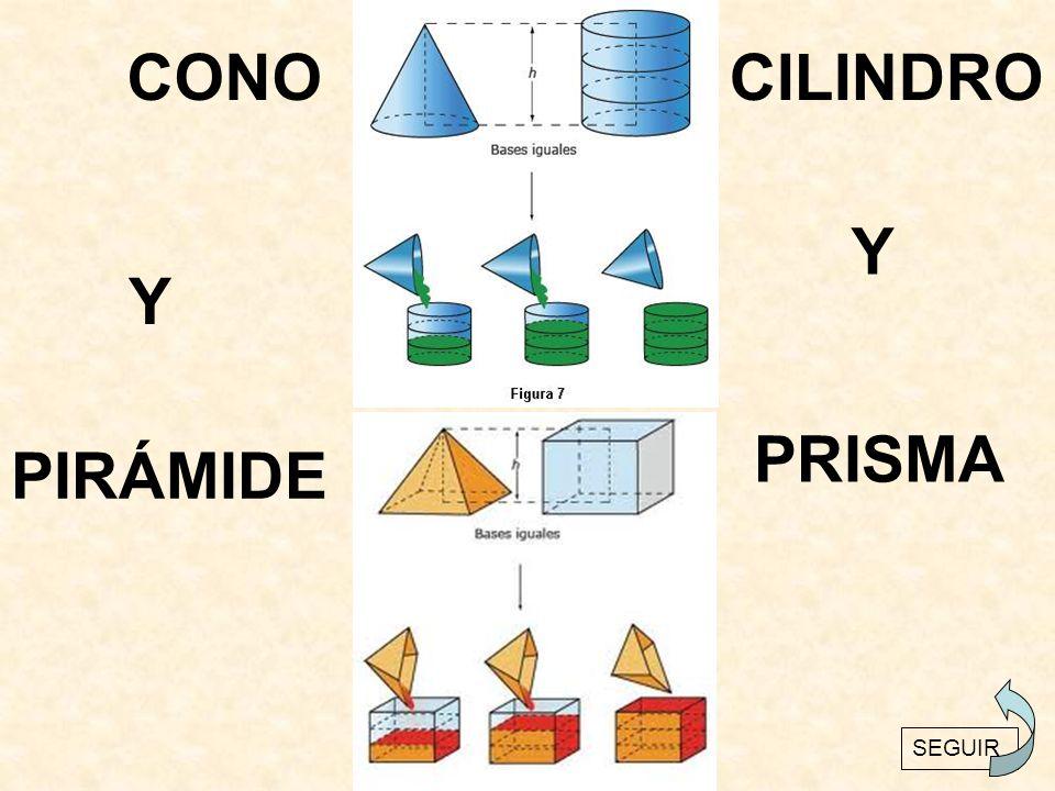 CONO CILINDRO Y Y PRISMA PIRÁMIDE
