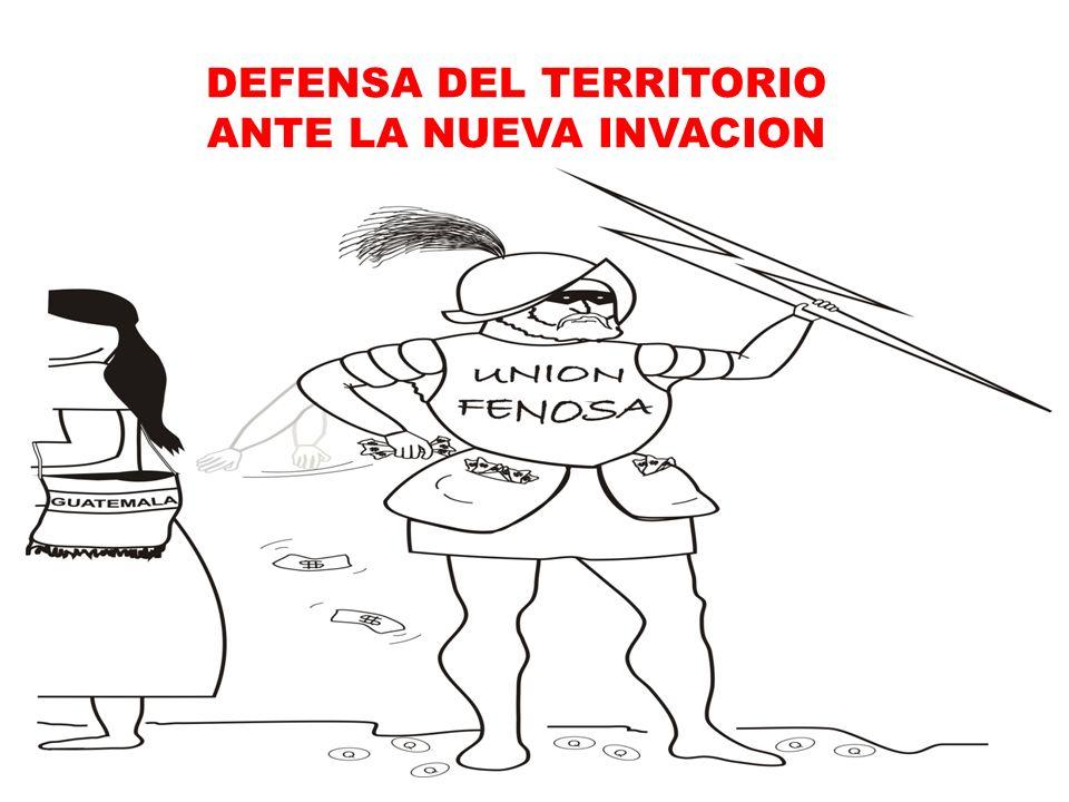 DEFENSA DEL TERRITORIO ANTE LA NUEVA INVACION