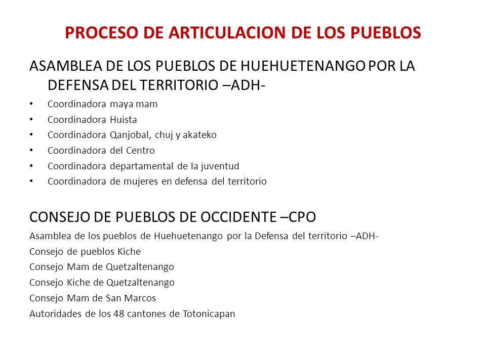 PROCESO DE ARTICULACION DE LOS PUEBLOS