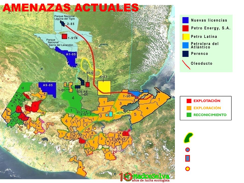 AMENAZAS ACTUALES Licencias de minería de metales por municipios