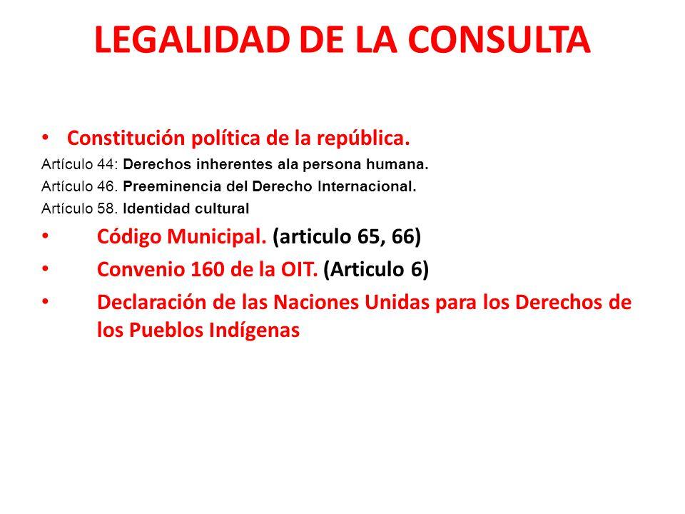 LEGALIDAD DE LA CONSULTA