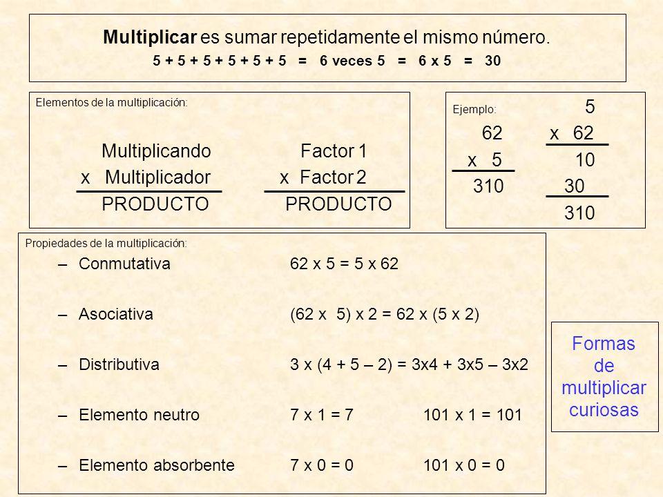 Formas de multiplicar curiosas