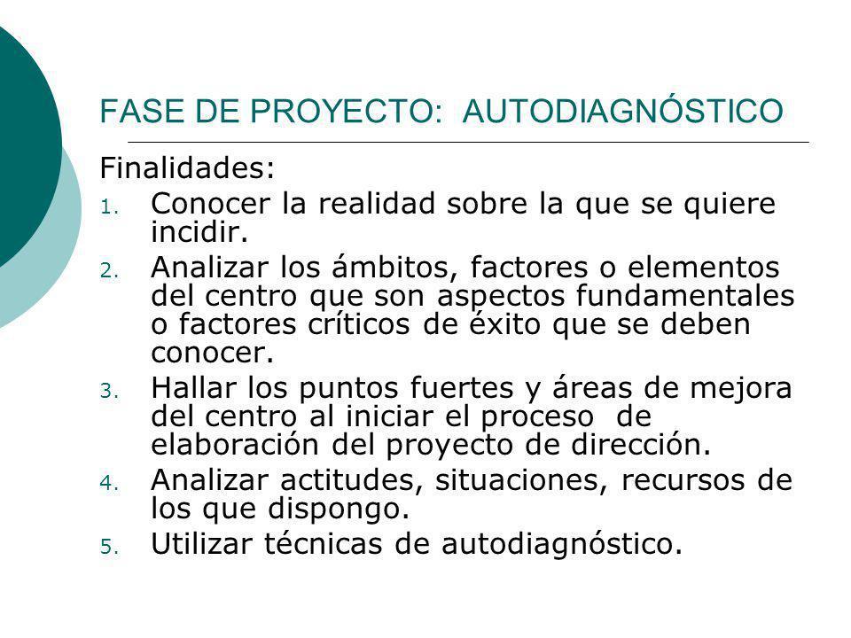 FASE DE PROYECTO: AUTODIAGNÓSTICO