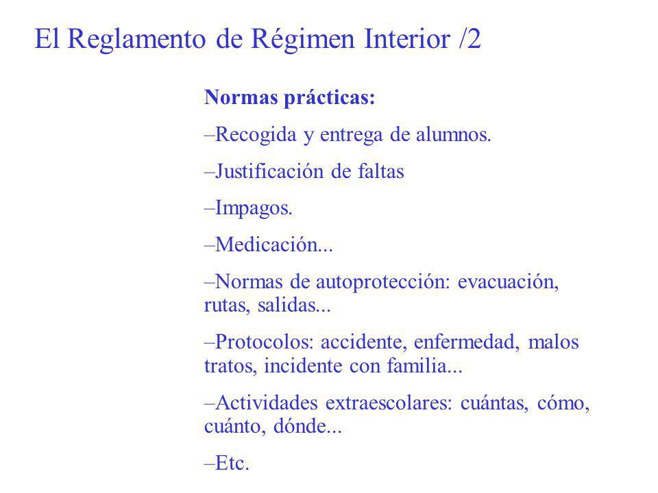 El Reglamento de Régimen Interior /2