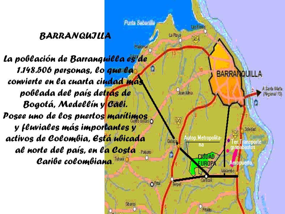 BARRANQUILLA La población de Barranquilla es de 1. 148