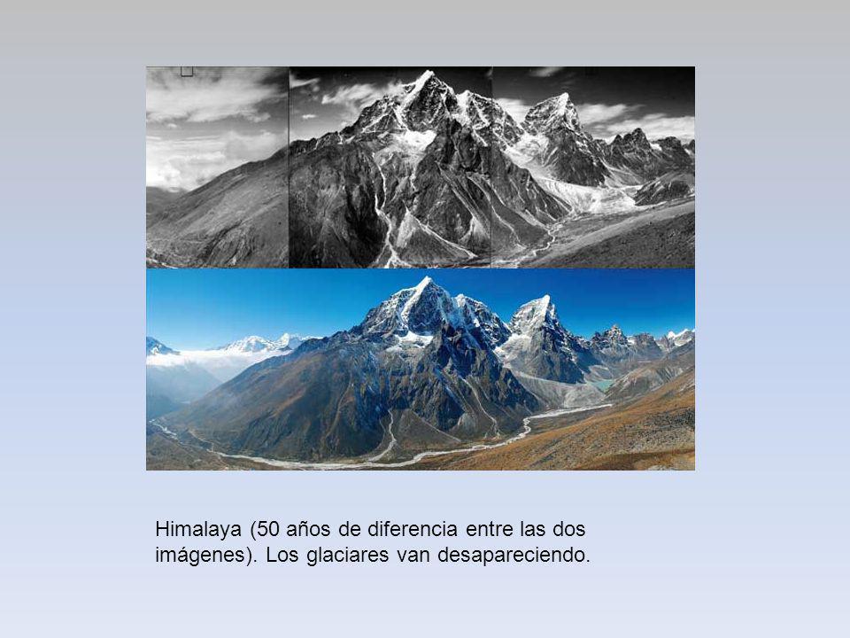 Himalaya (50 años de diferencia entre las dos imágenes)