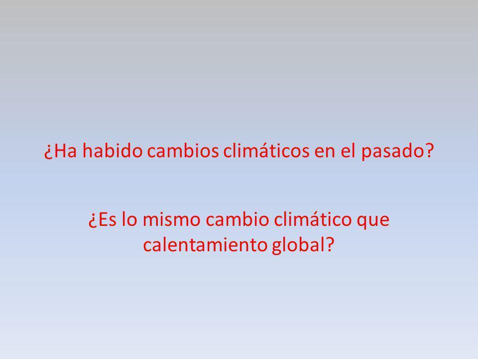 ¿Ha habido cambios climáticos en el pasado